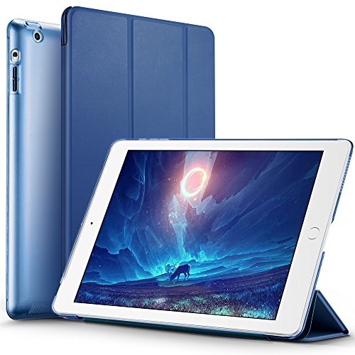 Smart Cover Case for Apple iPad 2/3/4 (Blue) - 2