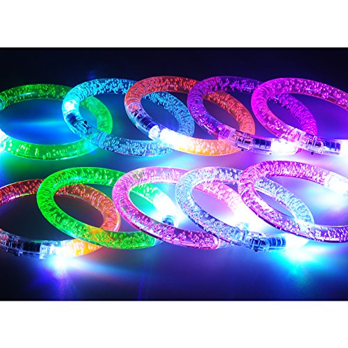 Seekingtag Colorful LED Flash Bracelet, Pack of -
