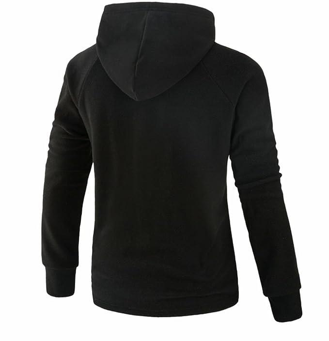 Sudaderas Hombre, Xinan Hombres Sólido Chaqueta Suéter con Capucha de Invierno Manga Larga Outwear: Amazon.es: Ropa y accesorios