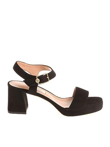 eaff4bdf383 L Autre Chose Women s LDG10570CP05401001 Black Suede Sandals  Amazon ...
