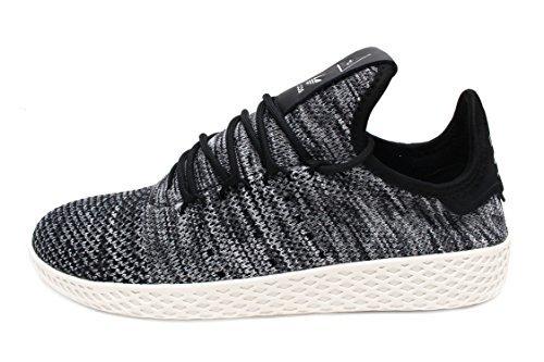 adidas Originals Pharrell Williams Tennis HU Pimeknit Shoe - Men's Casual 4 Chalk White/Core Black/Cloud White