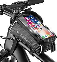 ROCKBROS Bike Phone Frame Bag Bike Phone Mount Bag Bike Accessories Waterproof Top Tube Bike Phone Case with S