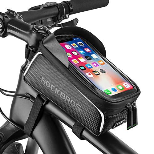 Bike Phone Front Frame Bag Bicycle Bag Waterproof Bike Phone Mount Top Tube Bag Bike Phone Case Holder Accessories…