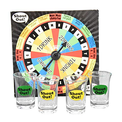 Game Night Shout Out Shot Glass Board Game Set, 6.75″, Multicolor