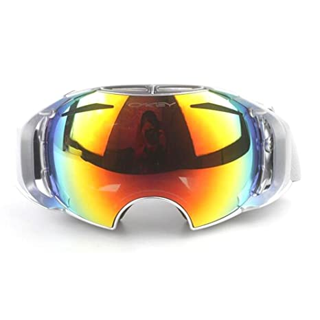 TJ Occhiali da motociclista da sci all'aperto Occhiali da nebbia da denti Groove Doppio ponte Occhiali da vista Occhiali sferici, green, j5