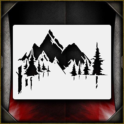2 Airbrush Stencil - 6