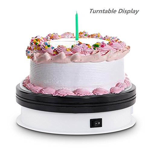 Motorized Turntable Display,MaoSongtech 360 Degree Electric Rotating Display Turntable for Display Jewelry watch,digital product,shampoo,glass,bag,Models, Diecast ,Jewelry ,cake and Collectibles
