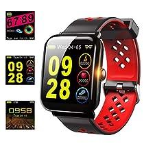 【2019年最新版】スマートブレスレット IP68防水 活動量計 歩数計 GPS スマートウォッチ 血圧計 心...