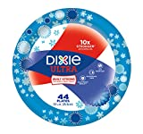 Dixie Ultra Paper Plates, 44 Count, Dinner Size (10 1/16 Inches) Disposable Plates; Designs May vary