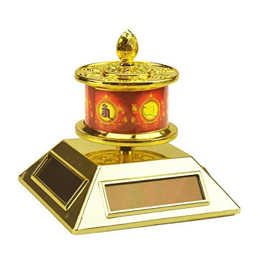 Feng Shui Solar Energy Prayer Wheel + Free Fengshuisale Red String Bracelet Sku:X9038 ()