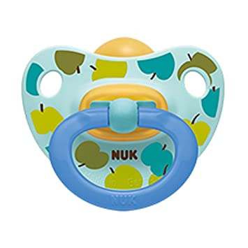 Amazon.com: NUK Adore – Chupete 0 – 6 meses Látex Apple niña ...