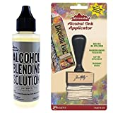 Ranger Adirondack Alcohol Blending Solution, 2-Ounce and Applicator, Stamp Handle and Felt Applicator + Solution.