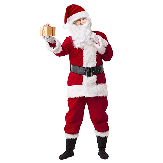 Amazon.com: VeMee - Disfraz de Papá Noel de Navidad, Papá ...