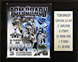 NFL New England Patriots Tom Brady New England Patriots Super Bowl XLIX MVP Plaque, 12 x 15-Inch