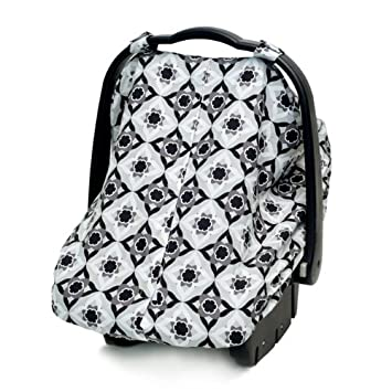 JJ Cole Car Seat Canopy Black Magnolia Discontinued By Manufacturer