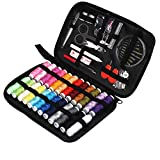 TUXWANG Sewing Kit 90pcs Premium Sewing Accessories and Carrying Case for Home, DIY, Beginners, Traveler, Emergency with Scissors, Thimble, Thread (24 Spools), Needles(30pcs), Tape Measure, and More