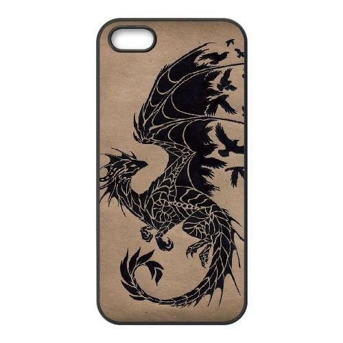 Dragon Tribal 002 coque iPhone 4 4S Housse téléphone Noir de couverture de cas coque EOKXLLNCD19720