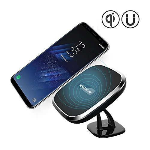 Magic 8 Ball Phone (Wireless Charger, Nillkin 2-in-1 Qi Wireless Charging Pad & Magnetic Car Mount Holder [2nd Generation] for iPhone X, iPhone 8/8 Plus/7/6/6s/Plus, Samsung Note 8/S8/S8 Plus and More - Model C)