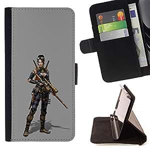Momo Phone Case / Flip Funda de Cuero Case Cover - Mujer Pc Juego de caracteres Guerra de combate - HTC One A9