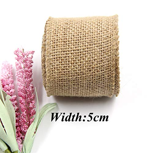 CAHEDSD 3M/Lot Jute Burlap Rolls Hessian Ribbon Lace