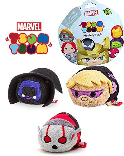 Marvel Tsum Tsum Mini Plush 3 Super Hero Collection 3 1 2 Black Panther   War Machine   Hawkeye Avengers   Mystery Pack Series 2 Blind Bag