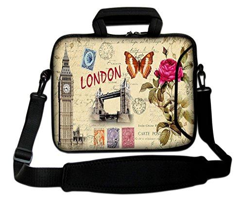 """10""""-17.6"""" Pulgadas Bolso de hombro con diseño, Funda con Bandolera en Neopreno para Ordenador Portátil. Muchos diseños y tamaños disponibles!!! (Part 2 of 2) Weekend in London"""