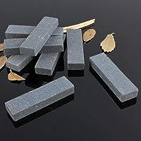 St. Lun 1/5PCS Natural Home Grinding Stone Double-Sided Knife Sharpener Whetstone,Variation:1PCS