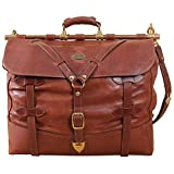 Leather Grip Brown Travel Bag Carry on Luggage Weekender Duffle USA Made No. 4 For Sale
