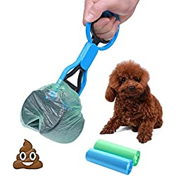 CINOTON Pet Waste Shovels Cleaning Tool Handle Grabber Pick up Jaw Pooper Scooper for Dog and Cats (blue)