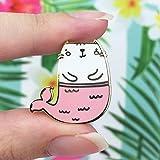 Mermaid Kitty Gold Pin - Cute Enamel Pin for Jackets and Backpacks / Hard Enamel Pin / Lapel Pin