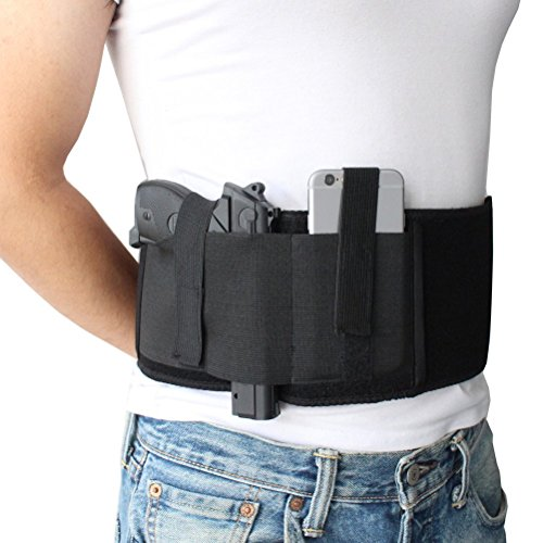 Holster Belly Band pour transport dissimulé |Compatible avec Gun Smith et Wesson Bodyguard, Shield, Glock , P238, Ruger… 1