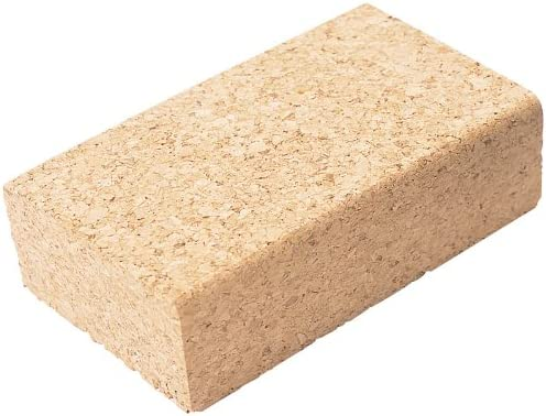 Manufactured from compressed cork with flat base and bevelled edges Display packed. 110 x 65 x 30MM CORK SANDING BLOCK