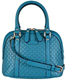 Gucci Women's Micro GG Leather Convertible Mini Dome Purse (Cobalt Blue)