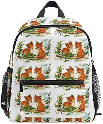 リュック 二匹の狐と雀 子供 キッズ バッグ 軽量 大容量 通学 遠足 散歩 男の子 女の子 入学 お祝いプレゼント