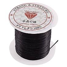 uxcell® Stretch Bracelet Making String Beading Cord Roll 10M Long Black