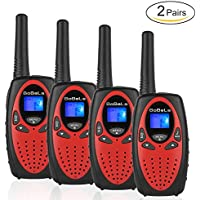 Bobela M880 Easy to use Two Way Radio Transceiver Walkie Talkies Toys and Best Festival and Christmas Gift for Kids to Wedding, Fishing,Cruise ship and Other Outdoor Activities(Red, 2 Pairs)