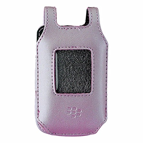 (BlackBerry Full Leather Case for BlackBerry Pearl Flip 8220 / 8230 - Pink)
