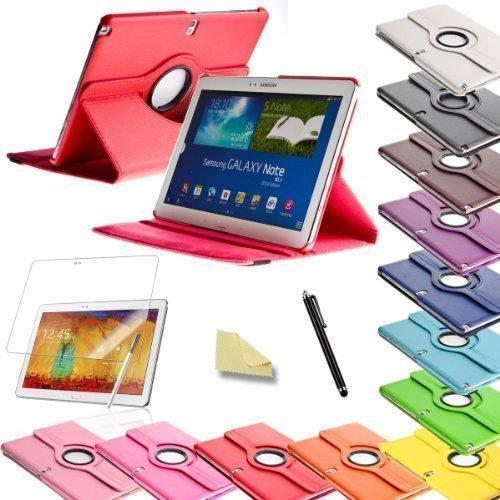3in1 SET Note 10.1 360 /° Kunstleder H/ülle Rot Folie Pen Samsung Galaxy Note 10.1 N8000 N8010 N8020 Cover Tasche Etui Case