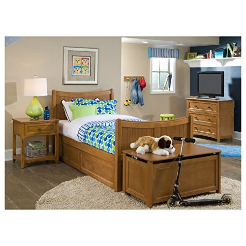 NE Kids School House Taylor Bed in Pecan - Twin Taylor Ready System