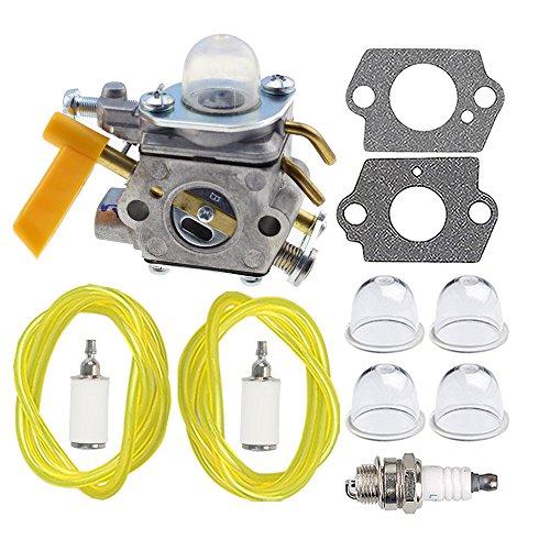 HIPA 309368003 Carburetor + Fuel Line Spark Plug for Ryobi 3