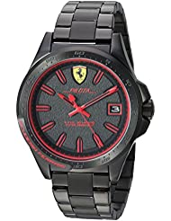 Ferrari Mens Pilota Quartz and Stainless-Steel-Plated Casual Watch, Color:Black (Model: 830425)