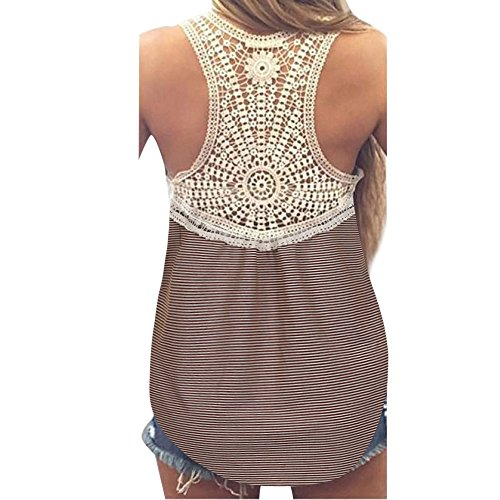 Womens Blouses Sale,KIKOY Summer Lace Vest Top Short Sleeve Casual Tank Tops Khaki