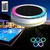 Bluelover Energía Solar Control remoto LED lámpara flotante impermeable colorido nadar piscina luz jardín