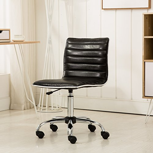 Roundhill Furniture OF1011BK Fremo Chromel Adjustable Air Lift Office Chair, Black by Roundhill Furniture