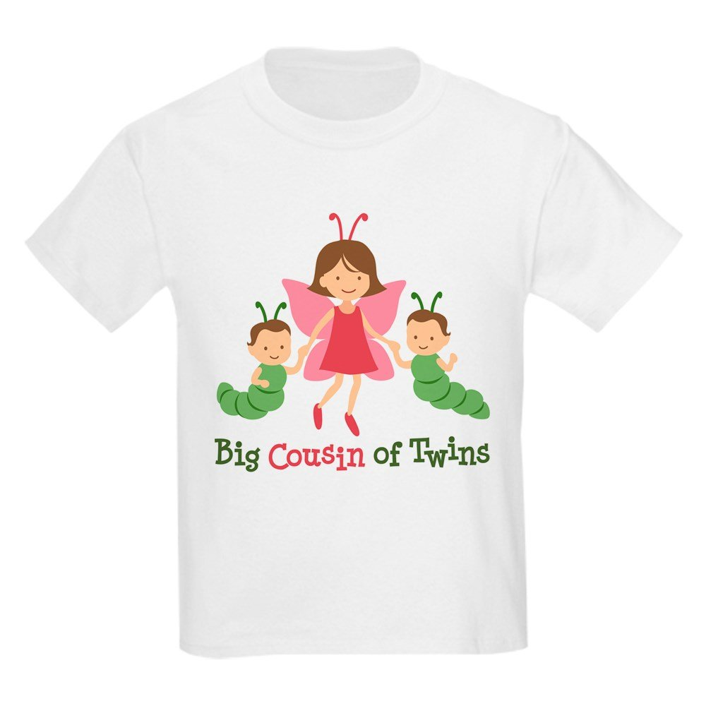 9a8f3609 Amazon.com: CafePress - Big Cousin of Twins - Butterfly Kids Light T-Shirt  - Kids Cotton T-shirt White: Clothing