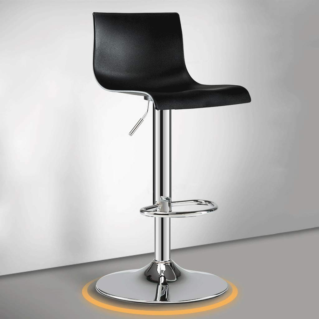 B Bar Chair Can Be Lifted and Lowered 360° Free redation Modern Minimalist Plating Crafts High Foot Stool (color   D)
