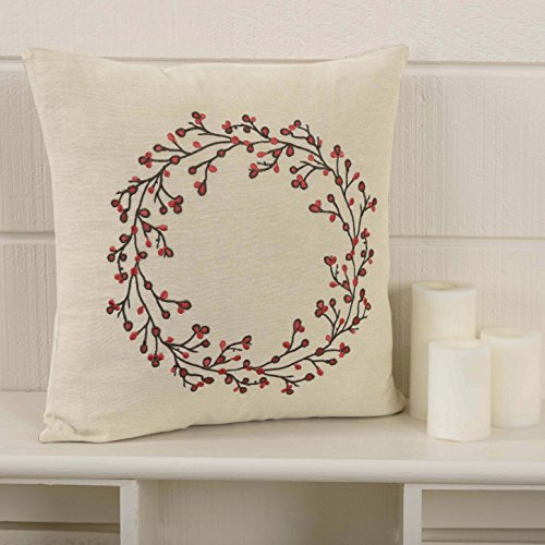 Piper Classics Twig & Berry Vine Throw Pillow Cover, 18