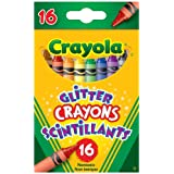 Crayola 16 Glitter Crayons, School and Craft Supplies, Gift for Boys and Girls, Kids, Ages 3,4, 5, 6 and Up, Back to school, School supplies, Arts and Crafts,  Gifting