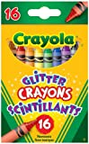 Crayola 16 Glitter Crayons, School and Craft Supplies, Gift for Boys and Girls, Kids, Ages 3,4, 5, 6 and Up, Holiday Toys, Stocking Stuffers, Arts and Crafts