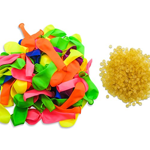 Price comparison product image TOAOB Water Balloon refill 1000 and 4mm Special Rubber Bands 1000